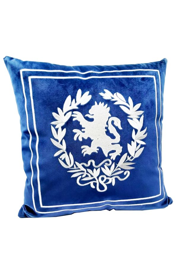 Navy Blue Lion Head Cushion