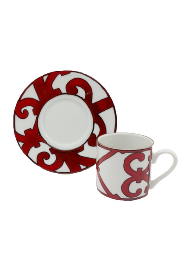 Balcon Pattern Red Single Cup Set