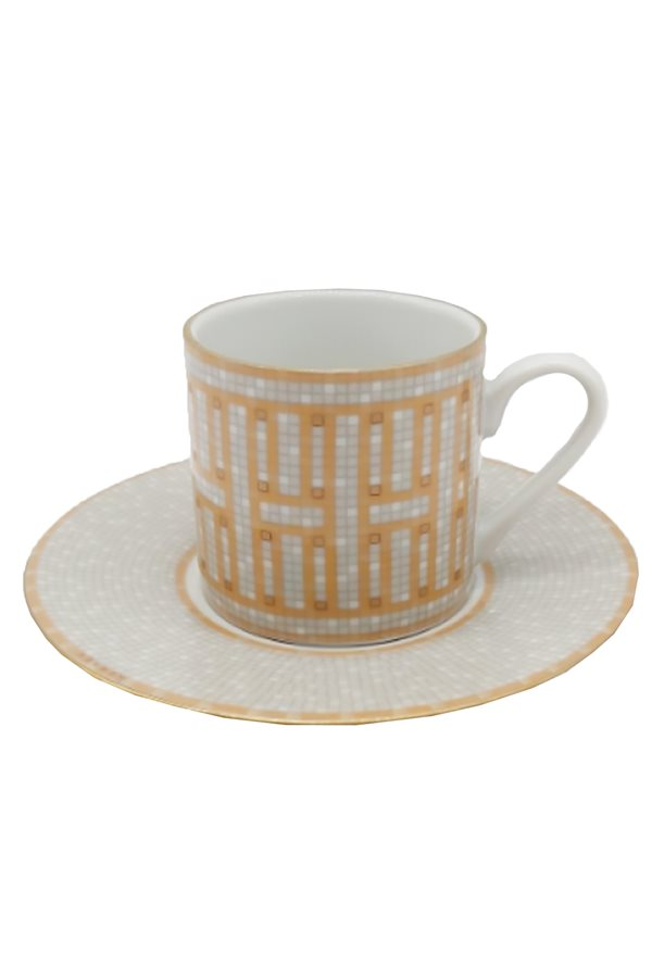 Mosaic Pattern Orange Single Cup Set