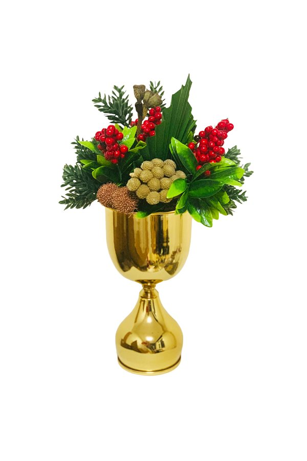 Gold Potted Kokina Arrangement