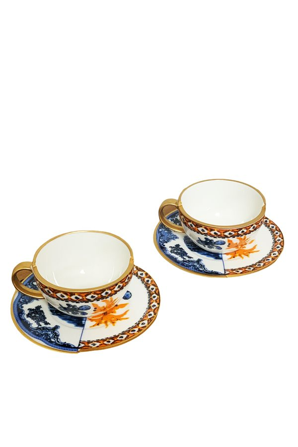 Two Patterned Nescafe Cups