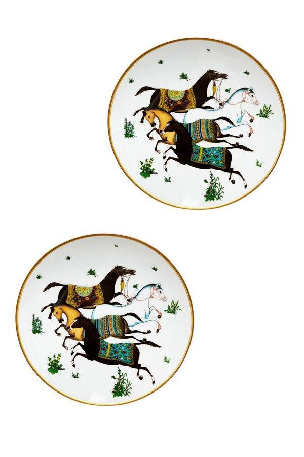 Hippodrome Series 2 Pieces Cake Plate