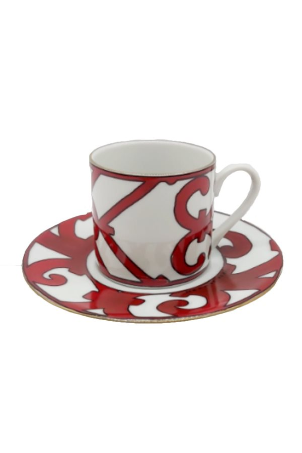 Balcon Pattern Red 6-Piece Cup Set