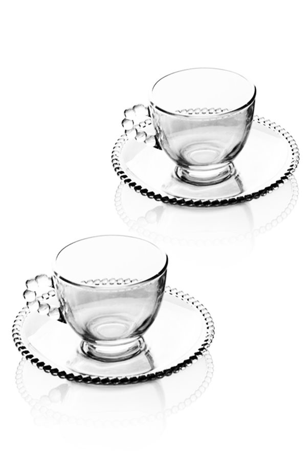 Bead Detailed 2-Piece Cup Set