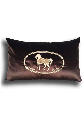 Cream Horse Patterned Cushion