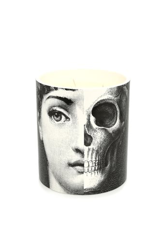 Skeleton Face Candle