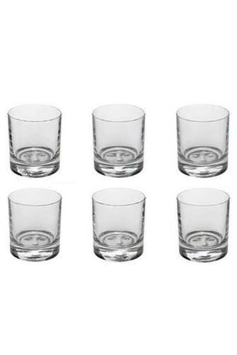 6 Piece Glass Tumbler With Female Face
