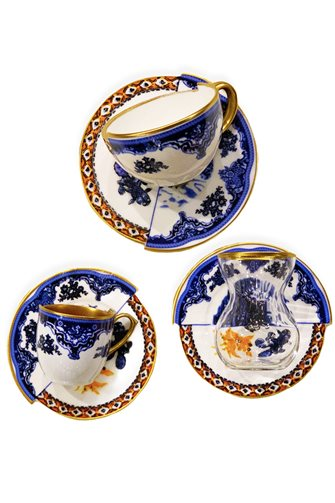 Two Pattern Rustic Tea Coffee Set