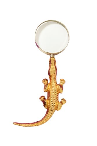 Gold Alligator Magnifier