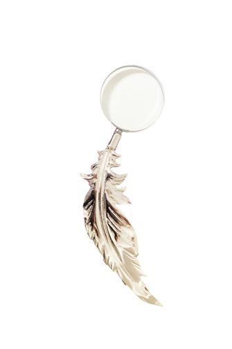 Silver Feather Magnifier