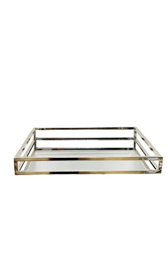 Silver Mirrored Rectangular Tray