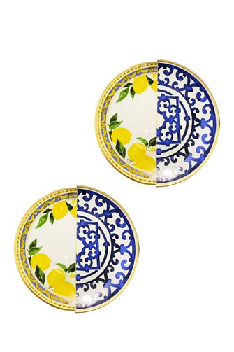 Lemon Series 2-Piece Cake Plate