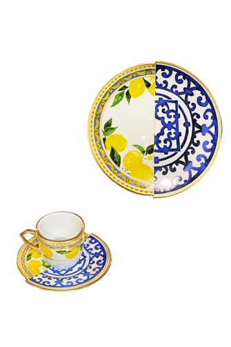 Lemon Series 2-Piece Coffee and Cake Set