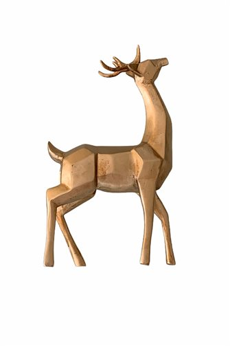 Cubic Gold Deer Trinket