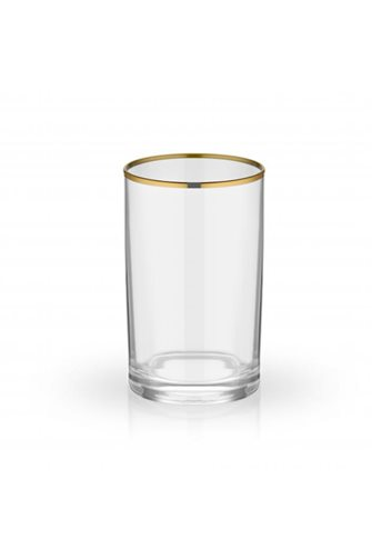 Plain Coffee Side 6-Gold Water Glass