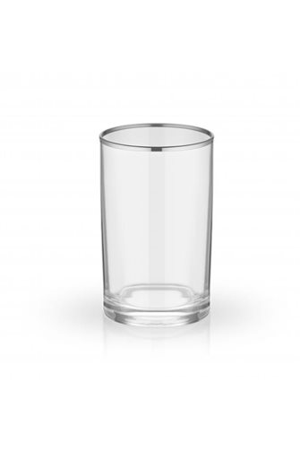 Plain Coffee Side 6-Silver Water Glass